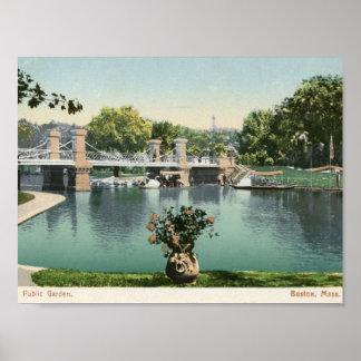 Allgemeiner Garten, Boston 1905 Vintag Poster