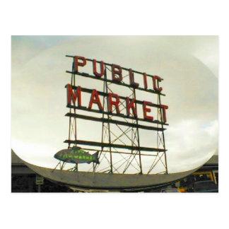 Allgemeiner Markt in Seattle, WA Postkarten