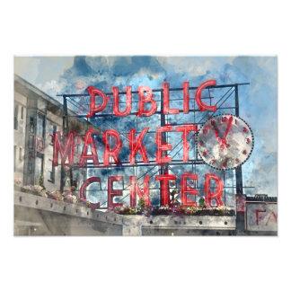 Allgemeiner Markt-Mitte in Seattle Washington Fotodruck