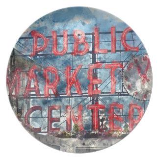 Allgemeiner Markt-Mitte in Seattle Washington Melaminteller