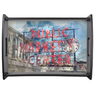 Allgemeiner Markt-Mitte in Seattle Washington Serviertablett