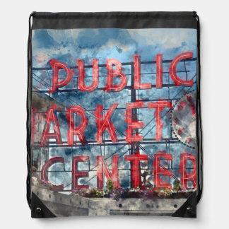 Allgemeiner Markt-Mitte in Seattle Washington Sportbeutel