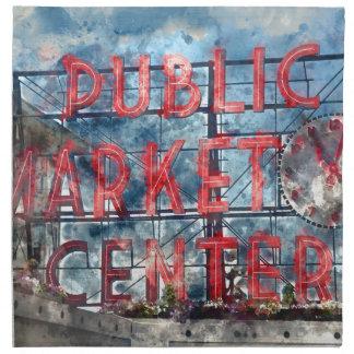 Allgemeiner Markt-Mitte in Seattle Washington Stoffserviette