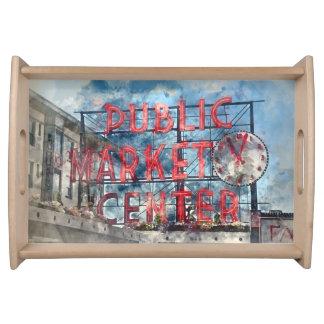 Allgemeiner Markt-Mitte in Seattle Washington Tablett