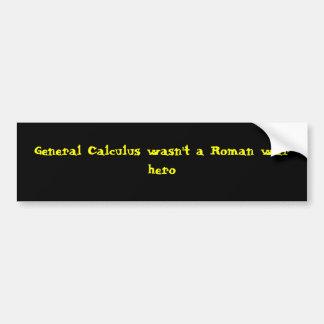 Allgemeines Kalkül war nicht ein römischer Autoaufkleber