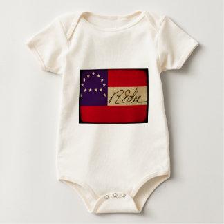Allgemeines Lee hat Flagge mit Unterzeichnung Baby Strampler