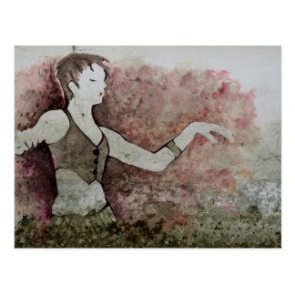 Allie Katzen-Schmutz-Stammes- Bauchtänzerin Postkarte