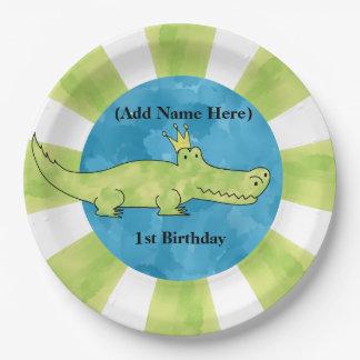 Alligator1. Geburtstags-Pappteller Pappteller
