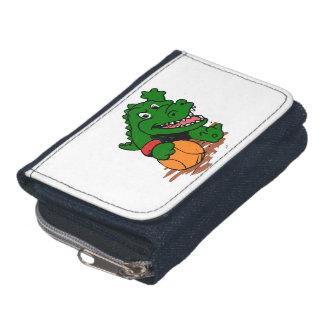 Alligator, der Basketball spielt