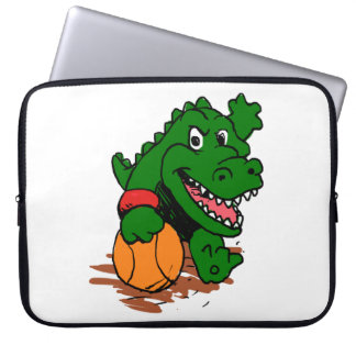 Alligator, der Basketball spielt Laptop Sleeve