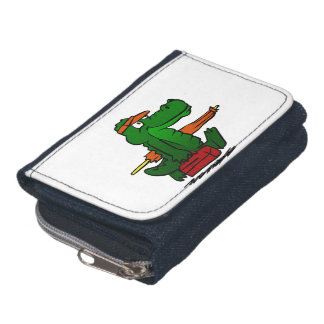 Alligator, der zum Strand geht