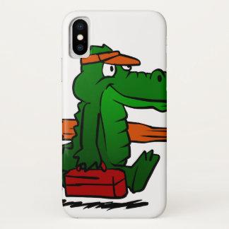 Alligator, der zum Strand geht iPhone X Hülle