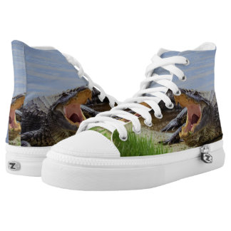 Alligator Hoch-geschnittene Sneaker