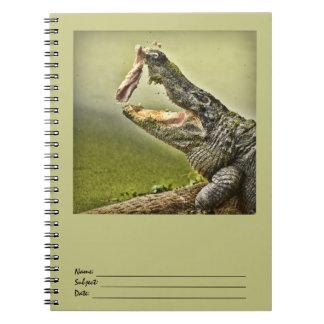 Alligatoranziehende Mittagessen-Tier-Fotografie Spiral Notizblock