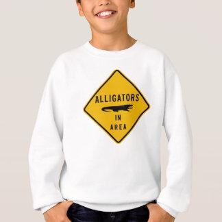 Alligatoren im Bereich, Louisiana, USA Sweatshirt