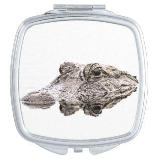 Alligatorkompakter Spiegel Schminkspiegel