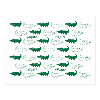 Alligatorpostkartengrün Postkarte