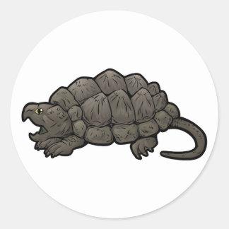 Alligatorreißende Schildkröte Runder Aufkleber