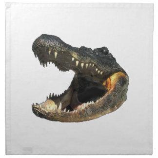 Alligatortage Stoffserviette