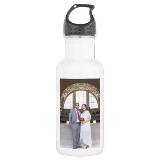 Allison- u. Edgarhochzeits-Wasser-Flasche Edelstahlflasche