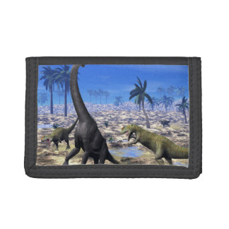 Allosaurus angreifender Brachiosaurusdinosaurier