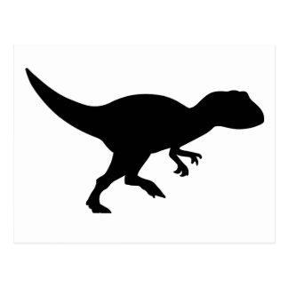 Allosaurus-Dinosaurier Postkarte