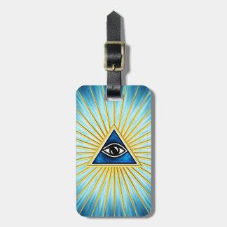 Allsehendes Auge Gottes, Pyramide, Freimaurer Kofferanhänger