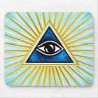 Allsehendes Auge Gottes, Pyramide, Freimaurer Mousepad