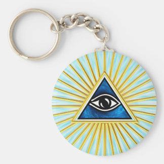 Allsehendes Auge Gottes, Pyramide, Freimaurer Schlüsselanhänger