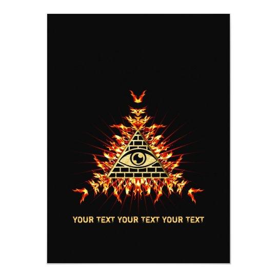 Allsehendes Auge Gottes, Pyramide, Vorsehung Karte