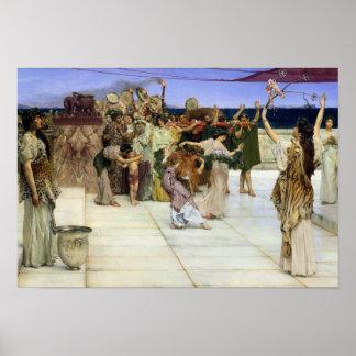 Alma-Tadema  A Widmung zum Bacchus Poster