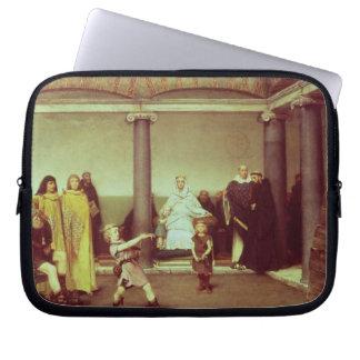 Alma-Tadema | Bildung der Kinder von Clothilde Laptop Sleeve