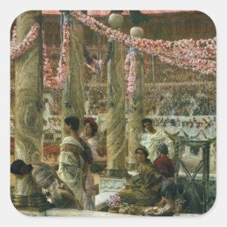Alma-Tadema | Caracalla und Geta, 1907 Quadratischer Aufkleber