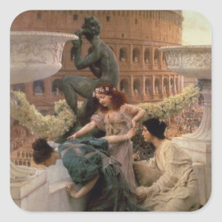 Alma-Tadema | das Kolosseum, 1896 Quadratischer Aufkleber