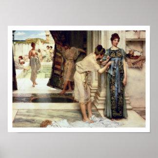 Alma-Tadema   der Frigidarium, 1890 Poster