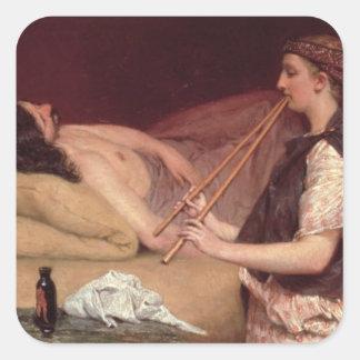 Alma-Tadema | der Siesta, 1868 Quadratischer Aufkleber