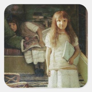 Alma-Tadema | dieses ist unsere Ecke, 1873 Quadratischer Aufkleber