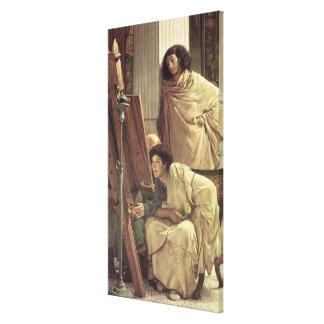 Alma-Tadema | ein Besuch zum Studio, 1873 Leinwanddruck