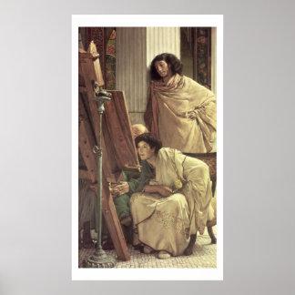 Alma-Tadema | ein Besuch zum Studio, 1873 Poster