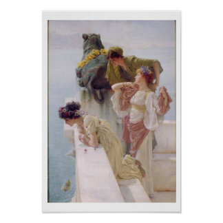 Alma-Tadema   ein Coign von günstigem, 1895 Poster