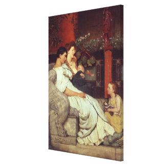 Alma-Tadema   eine römische Familie, 1867 Leinwanddruck