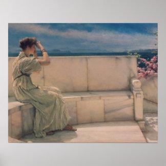 Alma-Tadema   Erwartungen, 1885 Poster