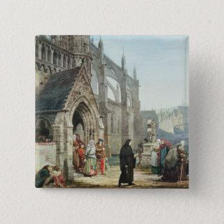 Alma-Tadema | Faust und Gänseblümchen, 1857 Quadratischer Button 5,1 Cm