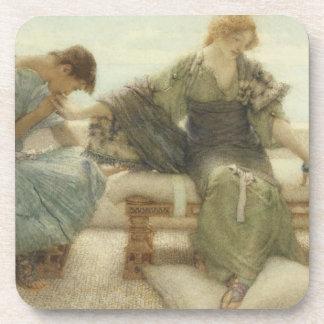 Alma-Tadema   fragen mich nicht mehr, 1886 Getränkeuntersetzer