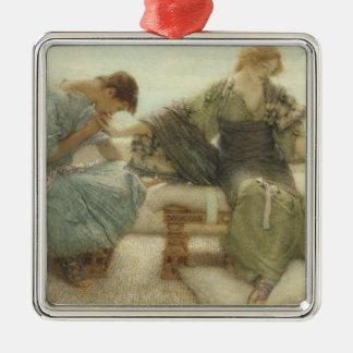 Alma-Tadema   fragen mich nicht mehr, 1886 Quadratisches Silberfarbenes Ornament