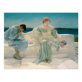 Alma-Tadema | fragen mich nicht mehr, 1906 Postkarte