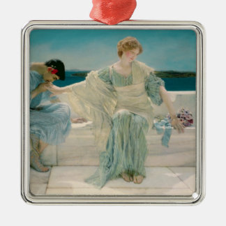 Alma-Tadema   fragen mich nicht mehr, 1906 Quadratisches Silberfarbenes Ornament
