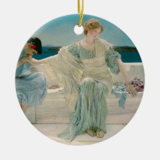 Alma-Tadema   fragen mich nicht mehr, 1906 Rundes Keramik Ornament