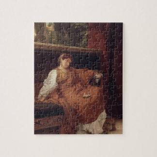 Alma-Tadema | Lesbia, das über einem Spatzen weint Puzzle