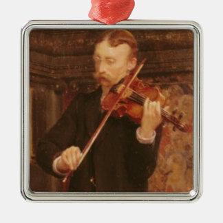 Alma-Tadema | Maurice Söhne, welche die Violine Silbernes Ornament